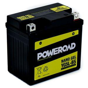 YG5L-BS GEL Poweroad Motorcycle Battery