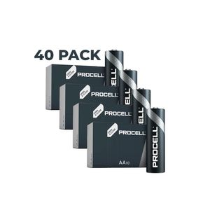 40x Duracell Procell General Purpose AA Batteries