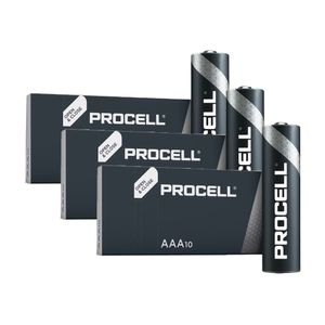 30x Duracell Procell General Purpose AAA Batteries