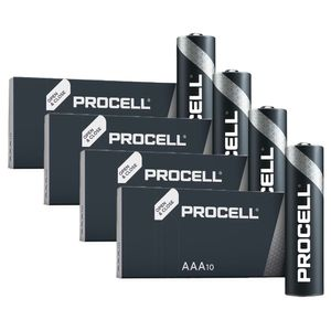 40x Duracell Procell General Purpose AAA Batteries