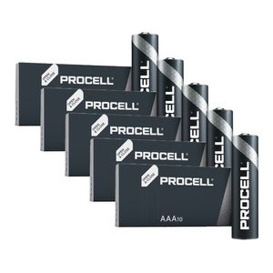 50x Duracell Procell General Purpose AAA Batteries