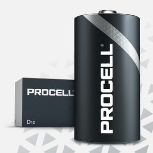 10x Duracell Procell General Purpose D Batteries