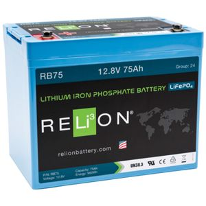 Relion RB75 Lithium Battery 12V 75Ah