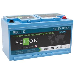 Relion RB80-DIN Lithium Leisure Battery 12V 80Ah