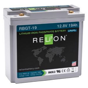 Relion RBGT-19 Lithium Golf Battery 12V 19Ah