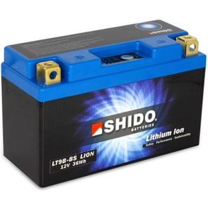 YT9B-BS Shido Lithium Motorcycle Battery LiFePO4 LT9B-BS