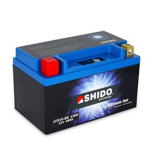 YTX14-BS Shido Lithium Motorcycle Battery LiFePO4 LTX14-BS