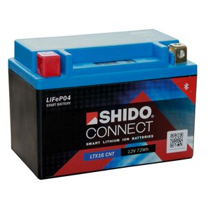 YTX16-BS SHIDO Connect Lithium Motorcycle Battery LTX16 CNT