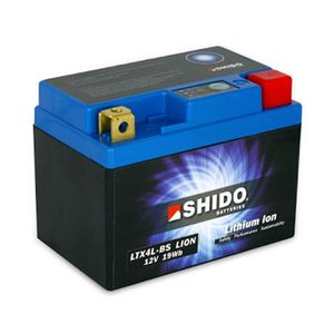 YTX4L-BS Shido Lithium Motorcycle Battery LiFePO4 LTX4L-BS