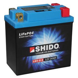 YB9-B Shido Batterie De Moto Lithium LiFePO4 LB9-B Q