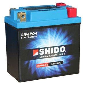 YTX14AHL-BS Shido Lithium Motorcycle Battery LiFePO4 LTX14AHL-BS Q