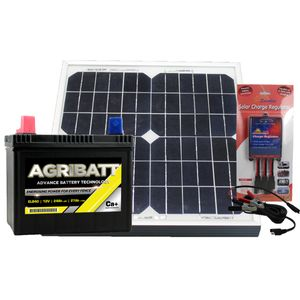 Electric Fence Solar Battery Kit ELB40 12V 27Ah c100