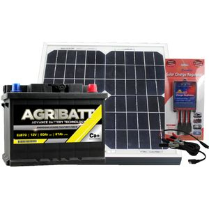 Electric Fence Solar Battery Kit ELB70 12V 67Ah c100