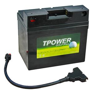 TP34-12 TPOWER Golf Trolley Battery with T-Bar Adaptor and T-Bar Lead