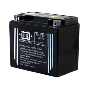 USX12 US Powersports AGM Bike Battery 12V