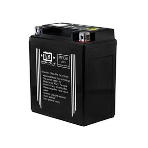 USX7L US Powersports AGM Bike Battery 12V