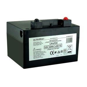 ULTRA MAX Li22-12 Lithium Golf Trolley Battery 22Ah SLAUMXLI22-12