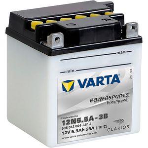 12N5.5A-3B Varta Powersports Freshpack Motorcycle Battery 506 012 004