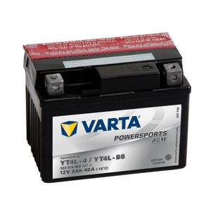 YT4L-BS Varta Powersports AGM Motorcycle Battery 503 014 003