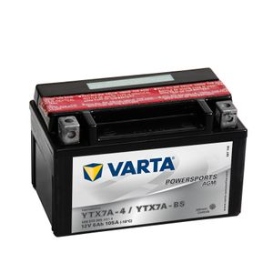 506 015 005 Varta Powersports AGM Motorcycle Battery - Replaces YTX7A-BS