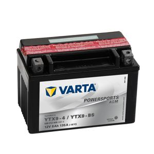508 012 008 Varta Powersports Motorcycle Battery - Replaces YTX9-BS