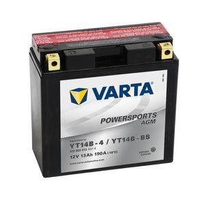 YT14B-BS Varta Powersports AGM Batterie De Moto 512 903 013 12V 12Ah