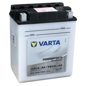 YB14L-A2 Varta Powersports Freshpack Motorcycle Battery 514 011 014 (12N14-3A)