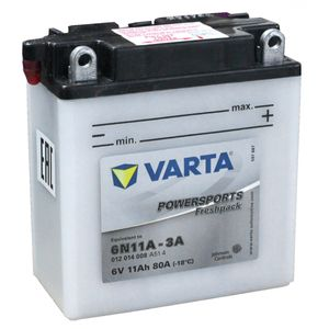 6N11A-3A Varta Powersports Freshpack Motorcycle Battery 012 014 008
