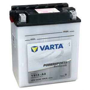 YB14-A2 Varta Powersports Freshpack Motorcycle Battery 514 012 014