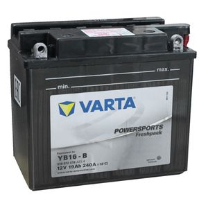 YB16-B Varta Powersports Freshpack Motorcycle Battery 519 012 019