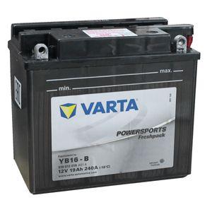 YB16-B Varta Powersports Freshpack Batterie De Moto 519 012 019