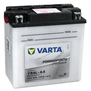YB9L-A2 Varta Motorcycle Battery 509 016 (12N9-3A)