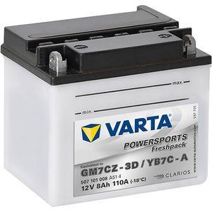 YB7C-A Varta Powersports Freshpack Motorcycle Battery 507 101 008