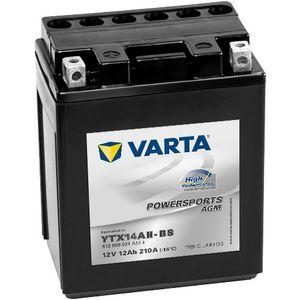 512 908 021 Varta Powersports Batterie De Moto AGM - Remplace YTX14AH-BS