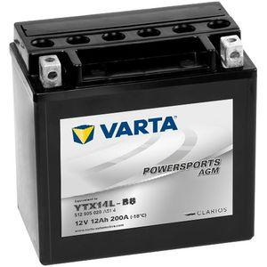 512 905 020 Varta Powersports Batterie De Moto AGM - Remplace YTX14L-BS