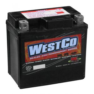 12VZ7S Westco Motorcycle Battery 12V - Replaces YTZ7S