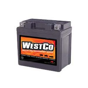 12VX5L-B Westco Motorcycle Battery 12V 5Ah - Replaces YTX5L-BS