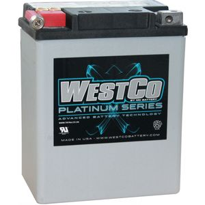 WCP15 Westco Platinum AGM Motorcycle Batterie 12V 14Ah YB14-A2 (SVR15)