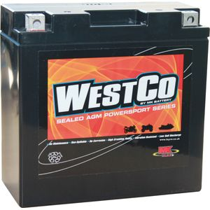 12V14-B Westco Motorcycle Battery 12V 12Ah - Replaces YTX14-BS