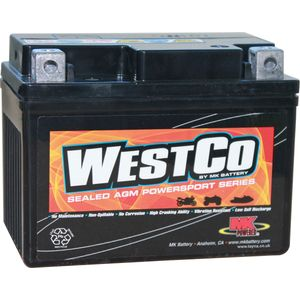 YT4L-BS Westco Motorcycle Battery 12V 4Ah  (12VX4L-B)