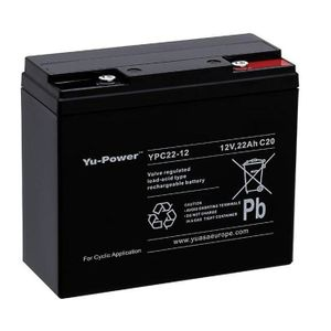 Yuasa YPC22-12 Cyclic VRLA/Golf Battery 12V 22Ah