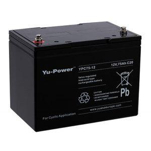 YUASA YPC75-12 12V 70Ah High Performance Heavy Duty Cyclic Mobility Battery (Was YC70-12)