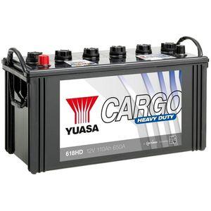 618HD Yuasa Cargo Heavy Duty Battery 12V 110Ah YBX1618