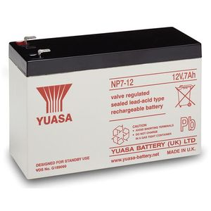 Yuasa NP7-12 Valve Regulated Lead Acid Battery 12V 7Ah