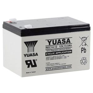 Yuasa REC14-12 Cyclic AGM VRLA Battery 12V 14Ah