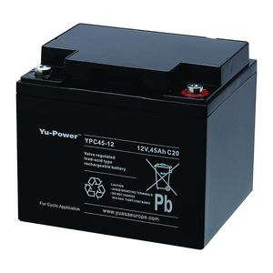 Yuasa YPC45-12 Yu Power Cyclic Deep Cycle Battery 12V 45Ah