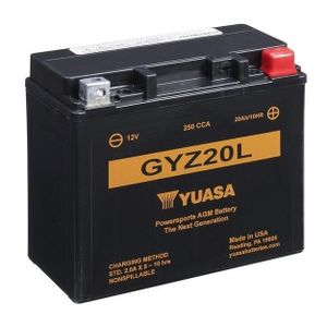 Yuasa GYZ20L High Performance MF Motorcycle Battery