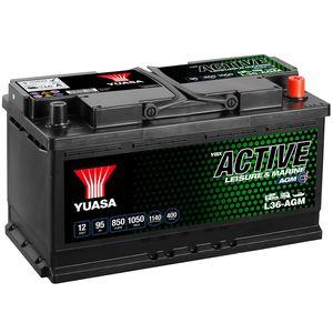 L36-AGM Yuasa Leisure Battery 12V 95Ah