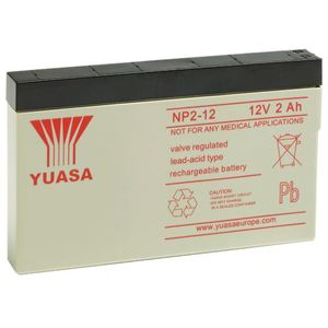 Yuasa NP2-12 Valve Regulated Lead Acid (VRLA) Battery 12V 2Ah