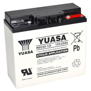 Yuasa REC22-12 Cyclic/Golf Battery 12V 22Ah